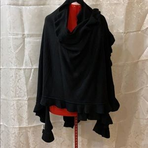 Black shawl style wrap